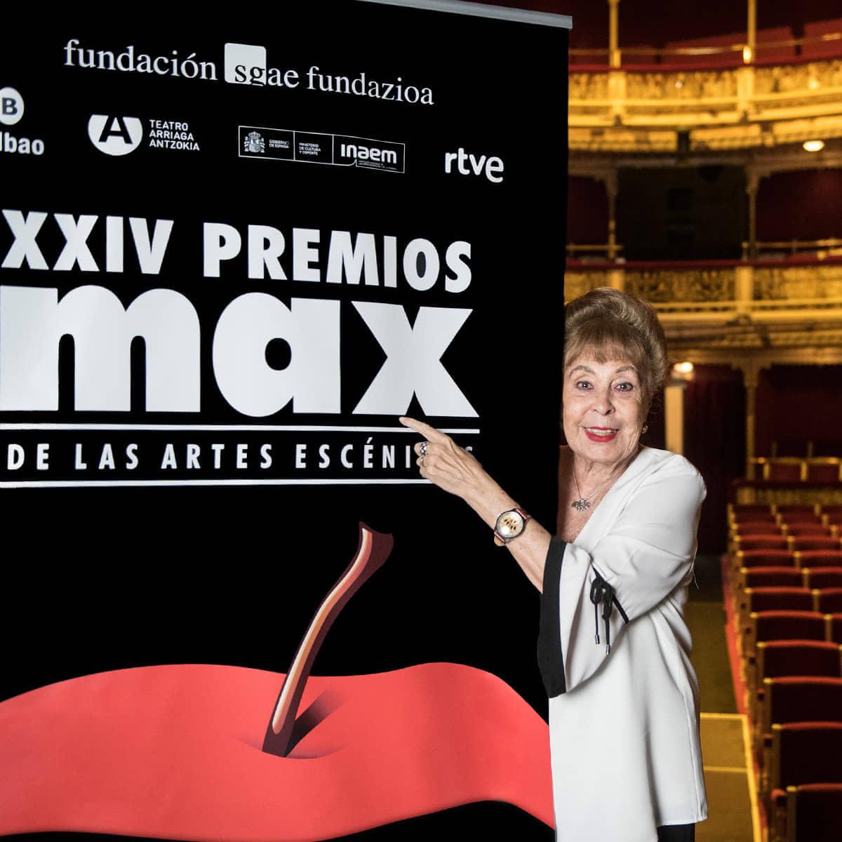 La Primera Dama del Festival, Gemma Cuervo, reconocida con el Max de honor 2021
